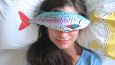 rainbow trout eye pillow